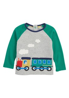 Mini Boden Toy Train Appliqué T-Shirt (Baby Boys & Toddler Boys)