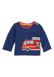 Mini Boden Transport Appliqué T-Shirt (Baby Boys)