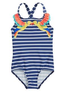 Mini Boden Tropical Birds One-Piece Swimsuit (Toddler Girls, Little Girls & Big Girls)