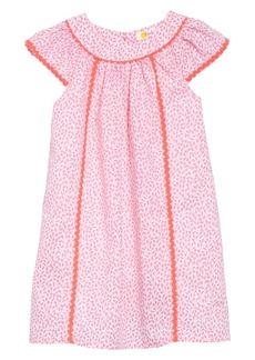 Mini Boden Tropical Print Dress (Toddler Girls)