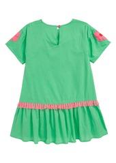 Mini Boden Tropical Woven Appliqué Dress (Toddler Girls, Little Girls & Big Girls)