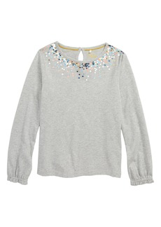 Mini Boden Twinkly Sequin Jersey Top (Toddler Girls, Little Girls & Big Girls)