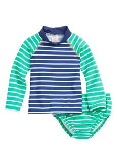 Mini Boden Two-Piece Rashguard Swimsuit (Baby Boys & Toddler Boys)