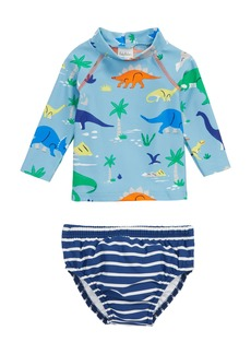 Mini Boden Two-Piece Rashguard Swimsuit (Baby Boys)