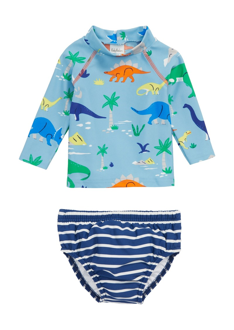 48d5900cdd Mini Boden Mini Boden Two-Piece Rashguard Swimsuit (Baby Boys)