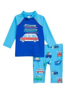 Mini Boden Two-Piece Van Surf Swimsuit (Toddler Boys, Little Boys & Big Boys)