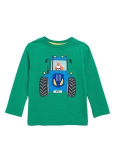 Mini Boden Vehicle Appliqué - Tractor Fox T-Shirt (Toddler Boys, Little Boys & Big Boys)
