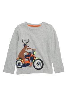 Mini Boden Vehicle Appliqué T-Shirt (Toddler Boys, Little Boys & Big Boys)