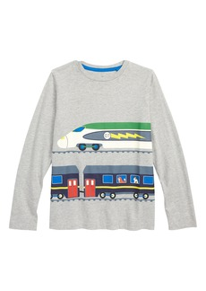 Mini Boden Vehicle Print T-Shirt (Toddler Boys, Little Boys & Big Boys)