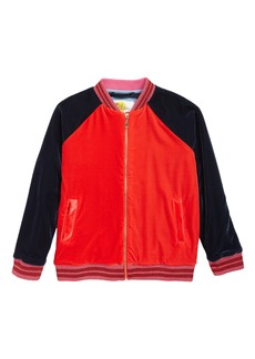 Mini Boden Velvet Bomber Jacket (Little Girls & Big Girls)