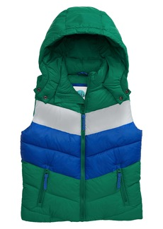 Mini Boden Water Resistant Hooded Quilted Vest (Toddler Boys, Little Boys & Big Boys)