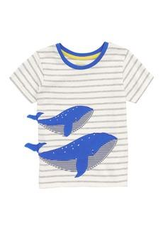 Mini Boden Whale Appliqué T-Shirt (Baby Boys & Toddler Boys)