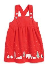 Mini Boden Winter Friends Corduroy Dress (Baby Girls & Toddler Girls)