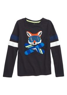 Mini Boden Winter Sports Appliqué T-Shirt (Toddler Boys, Little Boys & Big Boys)
