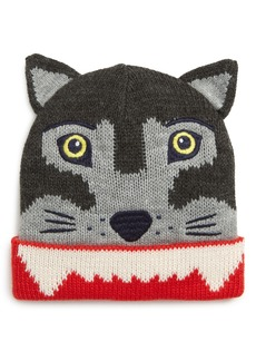 Mini Boden Wolf Knit Hat (Toddler Boys & Little Boys)
