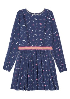 Mini Boden Woven Frill Space Dress (Little Girls & Big Girls)