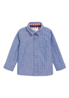 Mini Boden Woven Shirt (Baby Boys)