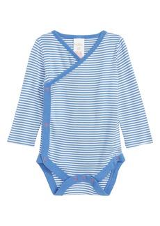 Mini Boden Wrap Bodysuit (Baby Boys)