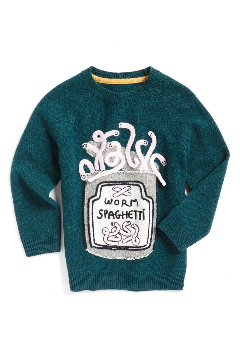Mini Boden Mini Boden X Roald Dahl Worm Spaghetti Sweater Toddler