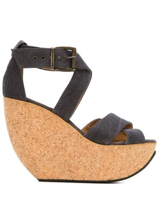 Minimarket 'Wati' wedge sandals - Grey