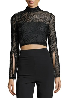 Mink Pink Damsel Lace Cropped Top