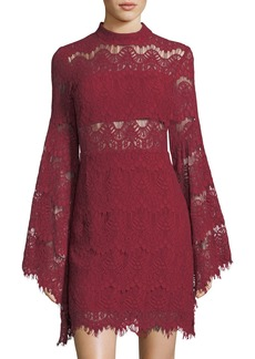 Mink Pink Drama Queen Long-Sleeve Lace Dress