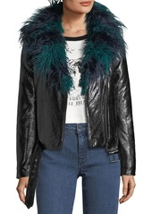 Mink pink midnight faux fur leatherette biker jacket abv2ad995f5 a