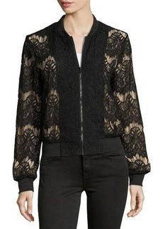 Mink Pink Drama Queen Lace Bomber Jacket