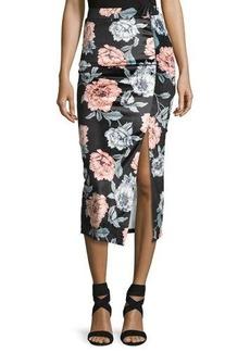 Mink Pink Garden of Eden Velvet Midi Skirt