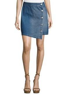 Mink Pink Got the Blues Denim A-Line Mini Skirt