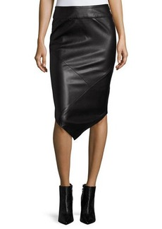 Mink Pink Into the Night Faux-Leather Skirt