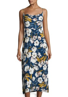 Mink Pink Pacifico Floral-Print Midi Slip Dress