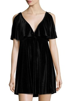 Mink Pink Tell-Tale Reversible Velvet Dress