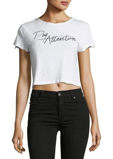 Mink Pink Pay Attention Cropped T-Shirt