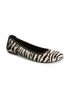 Minnetonka Anna Genuine Calf Hair Ballerina Flat (Women)