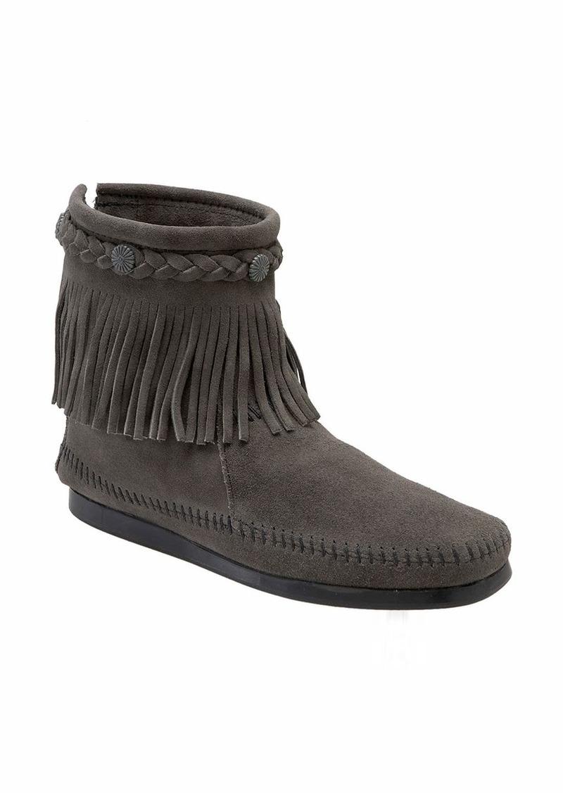 Minnetonka Minnetonka Fringed Moccasin Bootie Women Shoes