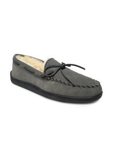 Minnetonka Genuine Shearling Moccasin Slipper (Men)