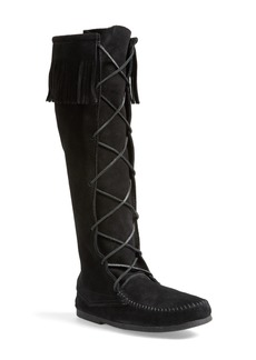 Minnetonka Knee High Moccasin Boot (Men)