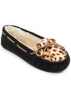 Minnetonka Leopard Print Cally Slipper Women's Shoes