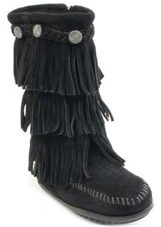 Minnetonka Little Girls 3-Layer Fringe Boot
