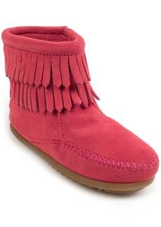Minnetonka Little Girls Double Fringe Side Zip Boot
