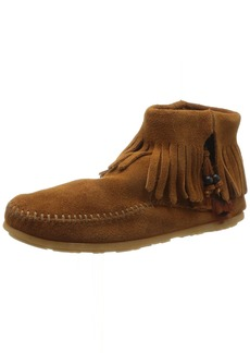 Minnetonka Women's Concho/Feather Side Zip Boot