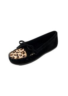 Minnetonka Women's Leopard Kilty Mocassin