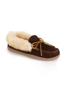 Minnetonka'Alpine' Genuine ShearlingMoccasin Slipper (Women)