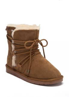 Minnetonka Whitehall Genuine Shearling Lined Wrap Boot