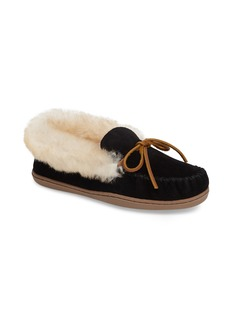 Women's Minnetonka Alpine Genuine Shearling Slipper