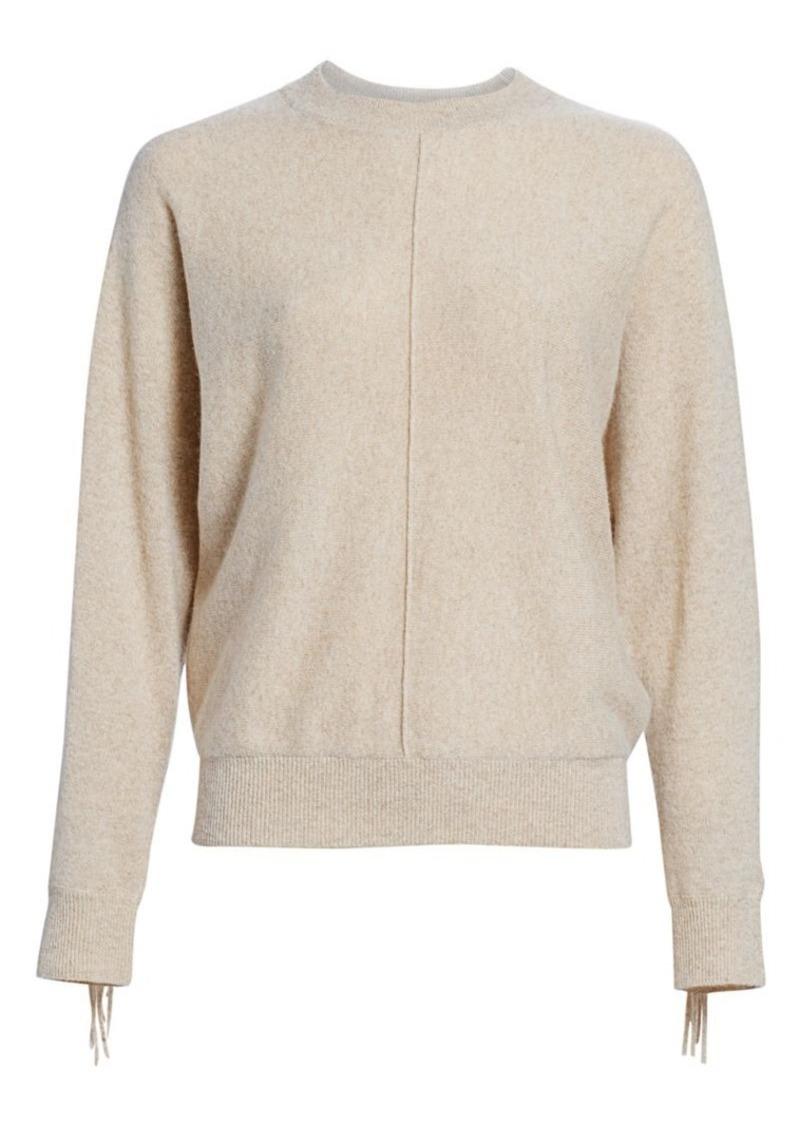 Minnie Rose Cashmere Fringe Sweater