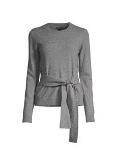 Minnie Rose Cashmere Tie-Waist Knit Sweater