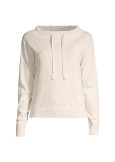 Minnie Rose Cotton & Cashmere Funnelneck Sweater