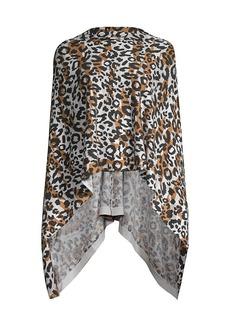 Minnie Rose Leopard-Print Cashmere Ruana